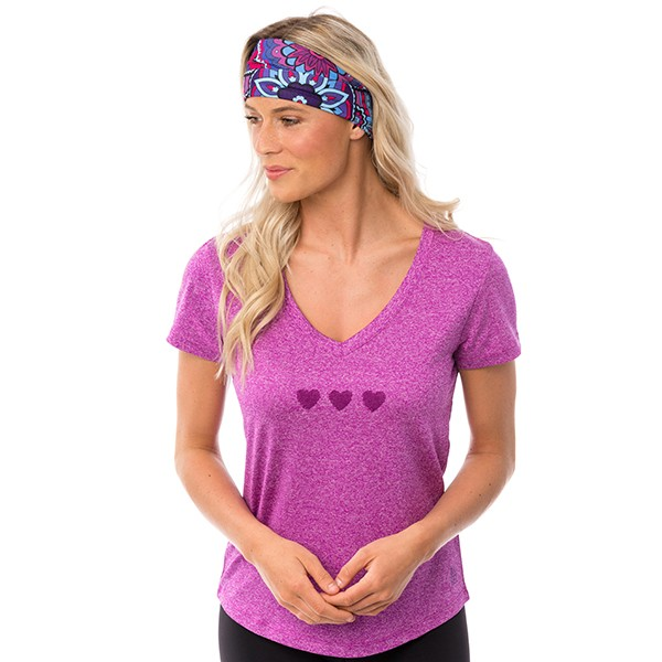 Athletic T-shirt -  Berry -...