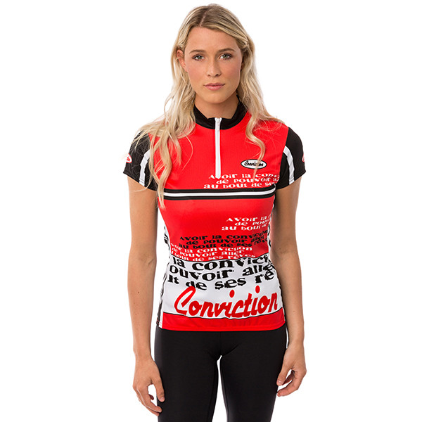 Cycling jersey -  Espresso/Red