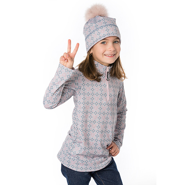 Half-zip sweater - Ema pink