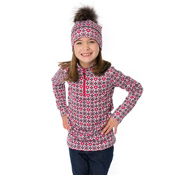 Half-zip sweater - Ema magenta