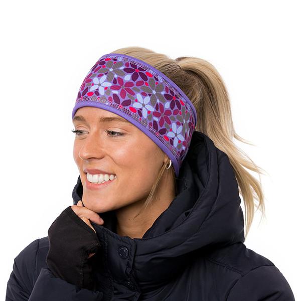 Lined headband - Clara - Berry