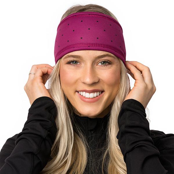 Lined headband - Small peas...