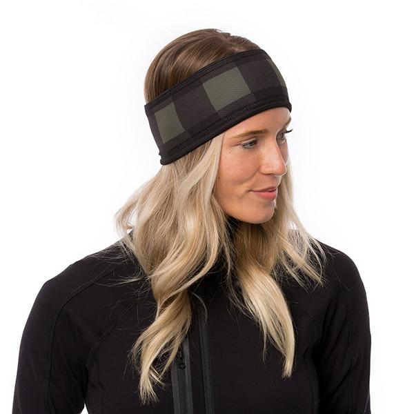 Lined headband - Plaid -...