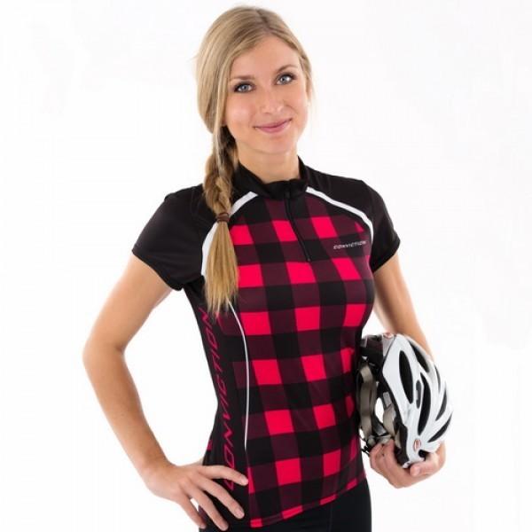 Cycling jersey - Plaid -...