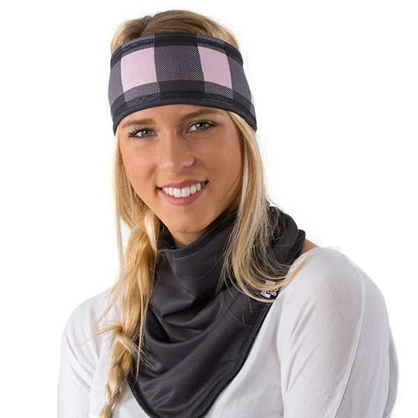 Lined headband - Plaid -...