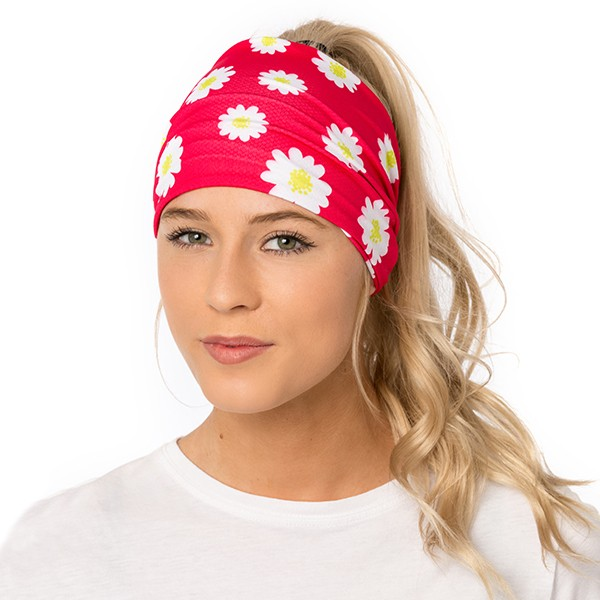 Athletic headband - Daisies...