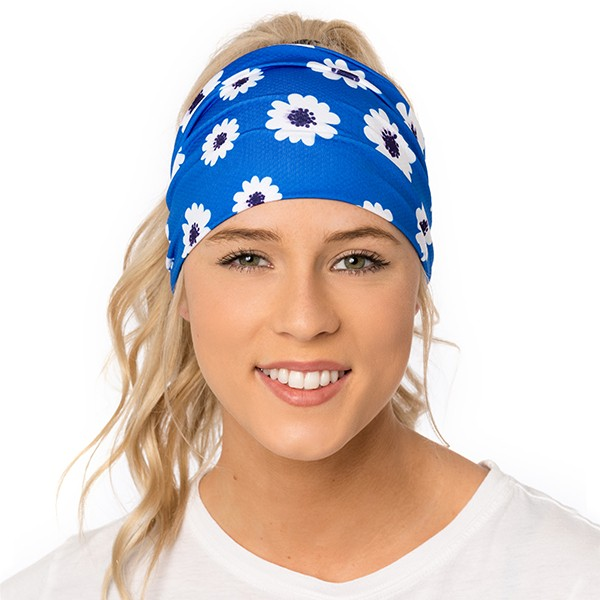 Athletic headband - Daisies...