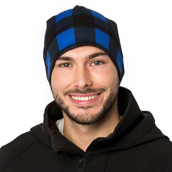 Tuque - Carreaux - Bleu/Noir