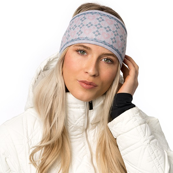 Lined headband - Ema - Pink