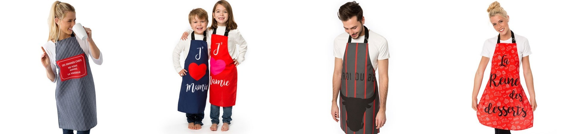 Funny and fashionables aprons for men, women and children