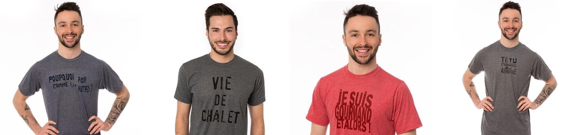 T-shirts aux imprimés originaux de qualité faits au Québec